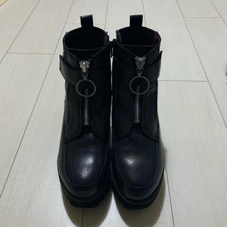 ヨースケ(YOSUKE)のyosuke 本革ショートブーツ ブラック(ブーツ)