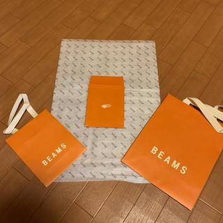 ビームス(BEAMS)のBEANSショップ袋3枚✨未使用+不織布1枚(ラッピング/包装)