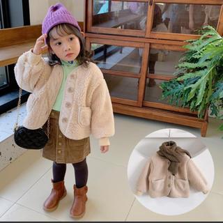 コドモビームス(こども ビームス)の新品 キッズ ベビー もこもこ アウター ボア コート 韓国 子供服 110(コート)