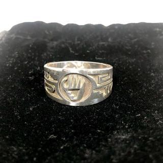 インディアン(Indian)のインディアンジュエリー ホピ族 シルバーリング 19号 直径19mm(リング(指輪))
