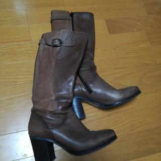 ファビオルスコーニ(FABIO RUSCONI)の本革ロングブーツ(ブーツ)