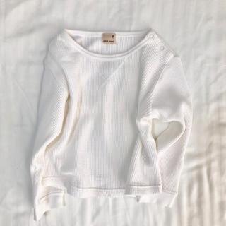 プティマイン(petit main)のプティマイン90サイズ☆ワッフル長袖カットソー(Tシャツ/カットソー)