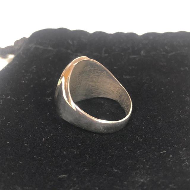 Indian(インディアン)のインディアンジュエリー ズニ族 シルバーリング 20号 直径19.4mm メンズのアクセサリー(リング(指輪))の商品写真