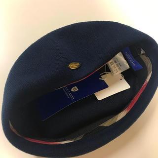 バーバリーブルーレーベル(BURBERRY BLUE LABEL)のクレストブリッジ  ブルーレーベル ベレー帽 ネイビー (ハンチング/ベレー帽)