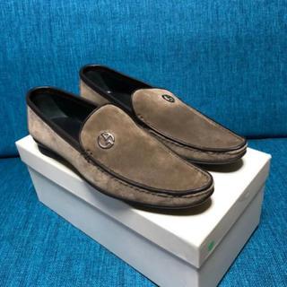 ジョルジオアルマーニ(Giorgio Armani)の美品ジョルジオ アルマーニ スエード ローファー 36ブラウングッチプラダ(ローファー/革靴)