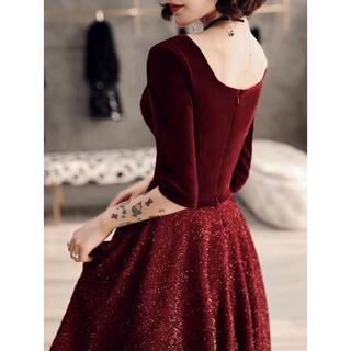 [ New ]red party-dress elegant medium(その他ドレス)