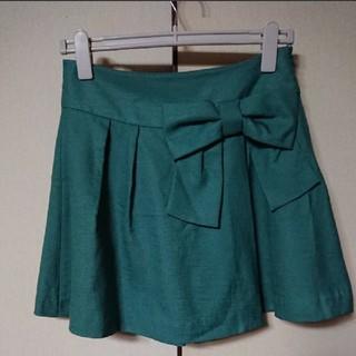 クチュールブローチ(Couture Brooch)のクチュールブローチ スカート風ショートパンツ キュロット リボン付(キュロット)