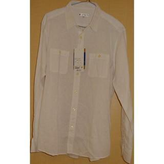 ◆ 白カジュアルシャツ Lサイズ 未使用 ◆(シャツ)