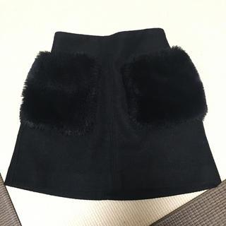GU - GU☆ファーポケットフェルトスカート110cm