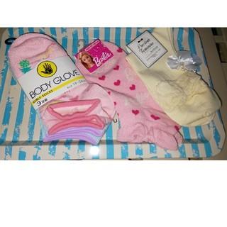 バービー(Barbie)の新品未使用タグ付き♪  女の子用ソックス5足セット♪(靴下/タイツ)