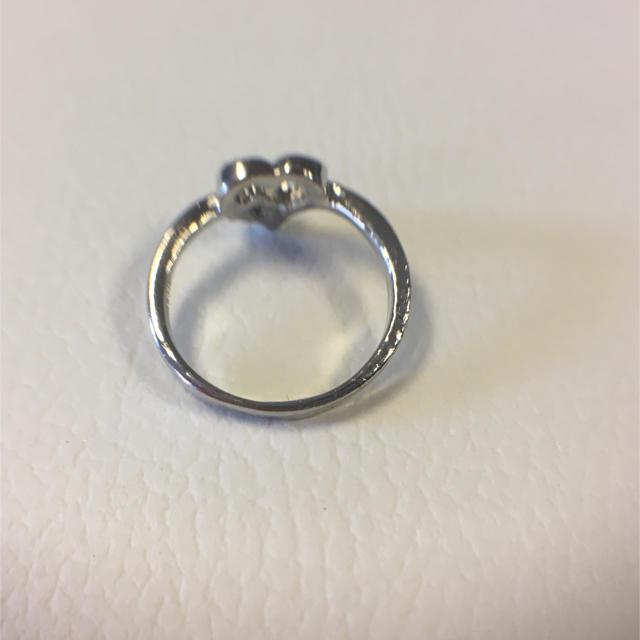 サファイア風 ストーン  ハート リング 8.8号 レディースのアクセサリー(リング(指輪))の商品写真