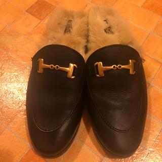アパルトモンドゥーズィエムクラス(L'Appartement DEUXIEME CLASSE)のカミナンド ファー付きローファー(ローファー/革靴)