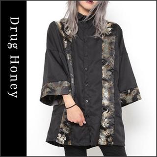 FUNKY FRUIT - 【DrugHoney】チャイナ地切り替え袴袖ビッグシャツ ドラッグハニー