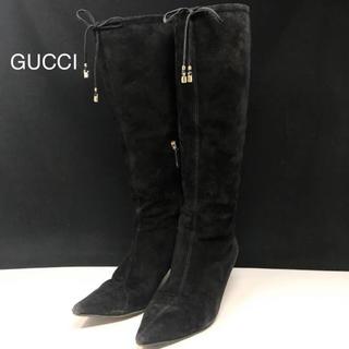 グッチ(Gucci)のグッチ ブーツ スエード ブラック(ブーツ)