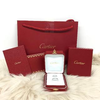 カルティエ(Cartier)のカルティエ ダイヤモンド 結婚指輪 PT950(リング(指輪))