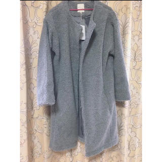 アーモワールカプリス(armoire caprice)のボアコート グレー 定価約20000円 本日限定価格(ロングコート)