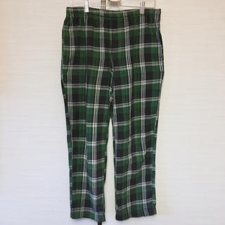 UNIQLO - UNIQLO メンズ パジャマ パンツのみ グリーンチェック