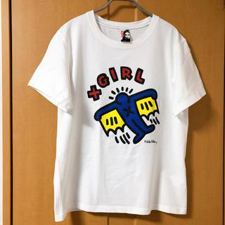 """エックスガール(X-girl)のX-girl×KEITH HARING """"S/S BIG TEE""""(Tシャツ(半袖/袖なし))"""