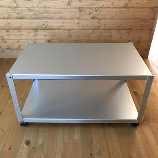 ムジルシリョウヒン(MUJI (無印良品))の無印良品 アルミローテーブルワゴン テレビ台 ラック(ローテーブル)