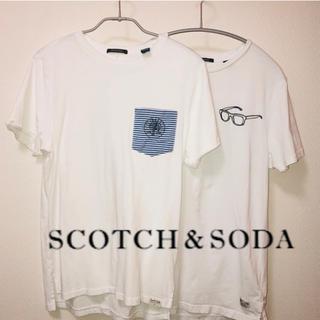 スコッチアンドソーダ(SCOTCH & SODA)のSCOTCH & SODA 白Tシャツ Sサイズ 2枚セット(Tシャツ/カットソー(半袖/袖なし))