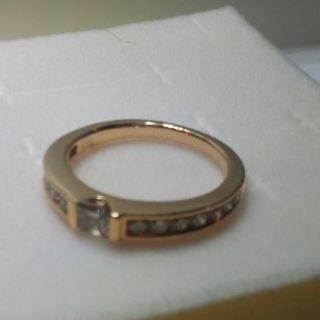 K18PG  8.5号 ブラウンダイヤモンドリング(リング(指輪))