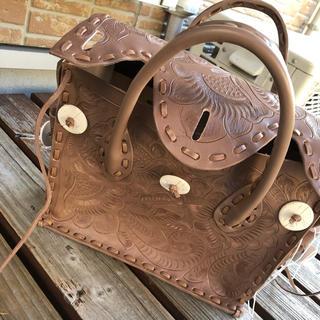 グレースコンチネンタル(GRACE CONTINENTAL)のカービングバッグ2019新作sグレー(トートバッグ)