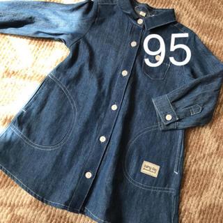 新品 女の子95 デニムワンピ  (ワンピース)