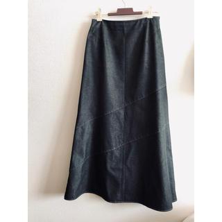 コムサイズム(COMME CA ISM)のCOMME CA ISM デニムスカート ブラック(ロングスカート)