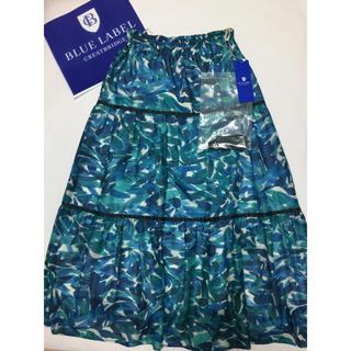 BURBERRY BLUE LABEL - 【新品】 ブルーレーベル クレストブリッジ ティアードロングスカート