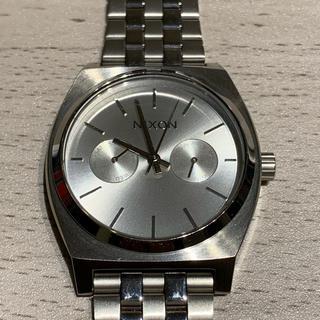 NIXON - NIXON TIME TELLER クロノグラフ シルバー 美品 ニクソン 時計