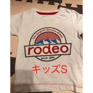 ロデオクラウンズワイドボウル(RODEO CROWNS WIDE BOWL)のロデオ★キッズ ロゴ入りTシャツ S(Tシャツ/カットソー)