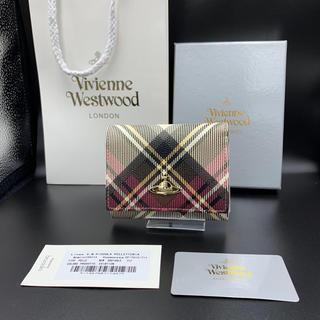 ヴィヴィアンウエストウッド(Vivienne Westwood)の【新品未使用】送料込 ヴィヴィアンウエストウッド 三折 財布 ホワイト チェック(財布)