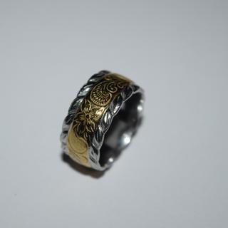 限定SALE ハワイアンジュエリー リング 15号 プルメリア ゴールド 美品(リング(指輪))