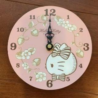 ハローキティ(ハローキティ)のハローキティ 時計(壁掛)※新品・未使用・非売品(掛時計/柱時計)