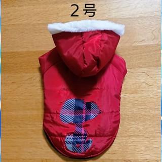 スヌーピー(SNOOPY)の【新品】2号 スヌーピー  シルエット ブルゾン レッド 犬服(ペット服/アクセサリー)