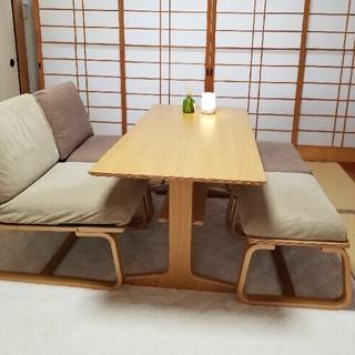 MUJI (無印良品) - 美品ソファー椅子テーブル 無印良品のリビングでもダイニングでも使えソファーセット