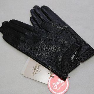 Vivienne Westwood - 新品 ヴィヴィアンウエストウッド 手袋 羊革 オーブ ブラック 21㎝ ②