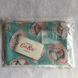 Cath Kidston - 新品タグ付き キャスキッドソン ブルー ティーカップ柄 コインケース 小物入れ