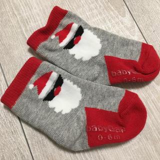 ギャップ(GAP)のGAP 靴下 ベビー 0〜6m サンタ クリスマス(靴下/タイツ)