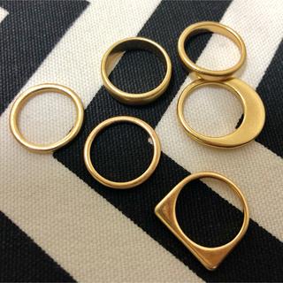 ☆リング②6個セットゴールド☆(リング(指輪))