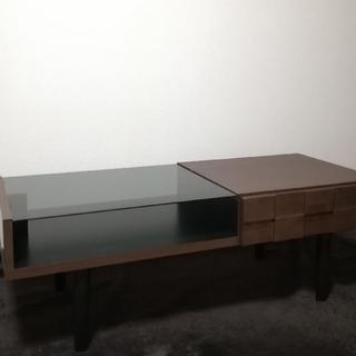 【値下げ再出品】GART ローテーブル ガラステーブル リビングテーブル(ローテーブル)