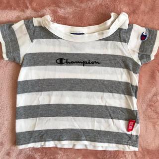 チャンピオン(Champion)のチャンピオン 80㎝ 半袖 トップス  ベビー服 ボーダー (Tシャツ)