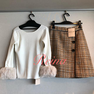 Apuweiser-riche - 総額34,100円🌟新品タグ付き🌸袖ファーニット&スカート