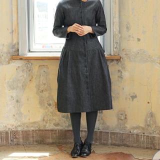 ヤブヤム(YAB-YUM)のYAB-YUM デニムコートドレス PROMENADE DRESS CT(ひざ丈ワンピース)