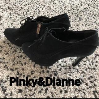 ピンキーアンドダイアン(Pinky&Dianne)のPinky&Dianne レースアップスエードブーティー  23-23.5cm(ブーティ)
