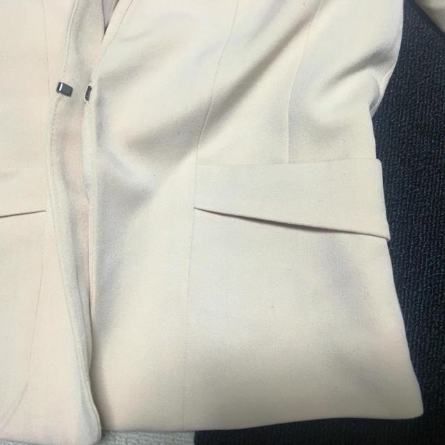 H&M(エイチアンドエム)の淡ピンクのノーカラージャケット レディースのジャケット/アウター(ノーカラージャケット)の商品写真