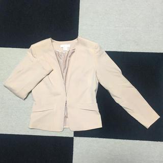 H&M - 淡ピンクのノーカラージャケット