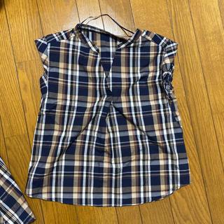 ジーユー(GU)のGU チェック柄トップス(シャツ/ブラウス(半袖/袖なし))