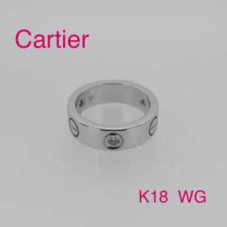 カルティエ(Cartier)の♡超人気♡ カルティエ ラブリング ハーフダイヤ K18  WG(リング(指輪))