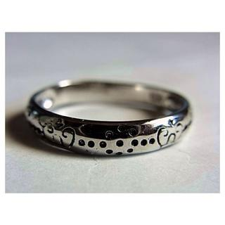 新品SVシルバー925リング指輪20.5号 ハート ドット(リング(指輪))